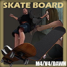Y3DJLL Skateboard Prop and Poses M4/V4/Dawn 3D Figure Essentials 3D Models Yanelis3D