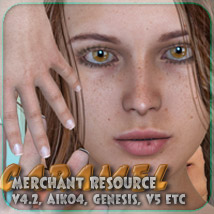 Merchant Resource - Caramel - for V4, Aiko 4, Genesis and more 2D 3D Figure Essentials _Fenrissa_