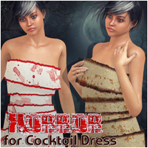 Horror for Cocktail Dress 3D Figure Essentials Atenais