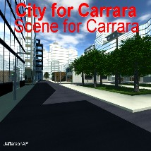 City for Carrara 3D Models JeffersonAF