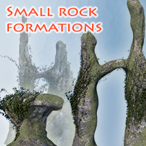 Small rock formations 3D Models 1971s