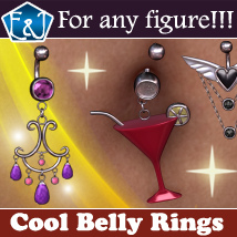 Cool Belly Rings For Any Figure Accessories Software Themed EmmaAndJordi