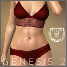Paradise Lingerie for Genesis 2 Female(s) 3D Figure Essentials 3D Models outoftouch