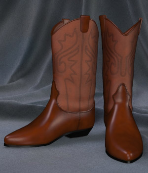 Mysthero's Classic Westernboots 3D Figure Assets Mysthero