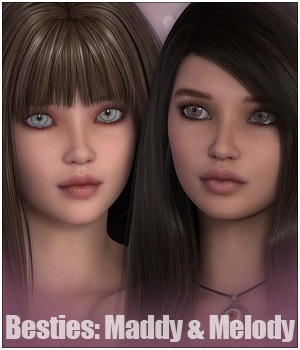 Sabby-Besties: Maddy & Melody 3D Models 3D Figure Essentials Sabby