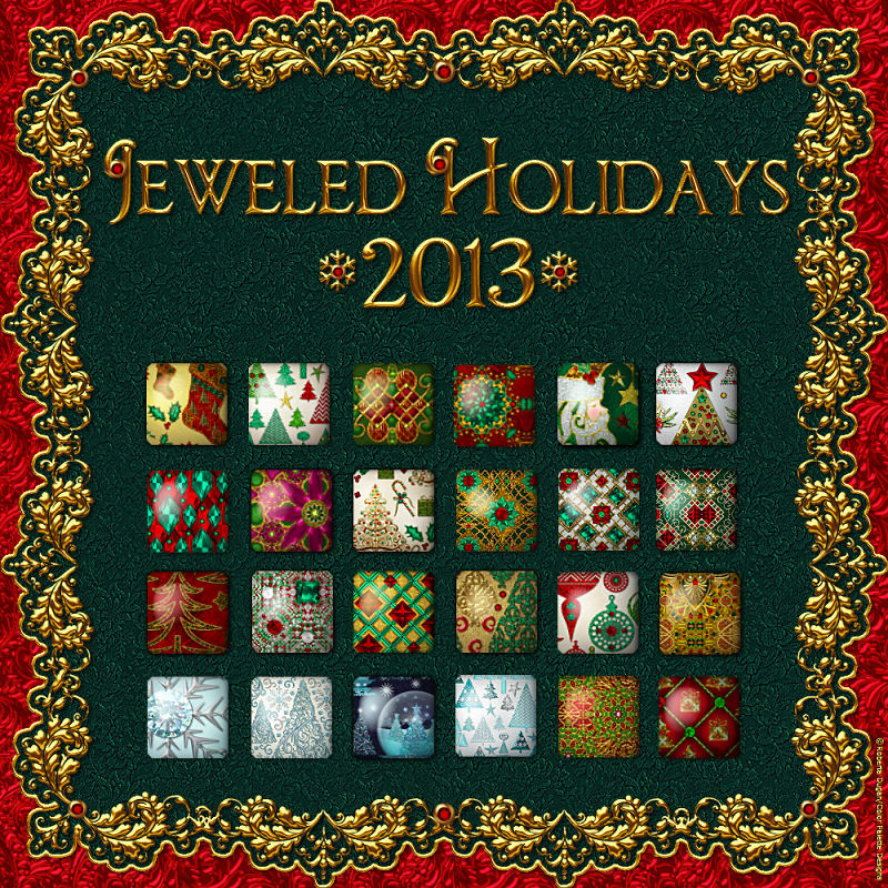 Jeweled Holidays 2013 Layer Styles