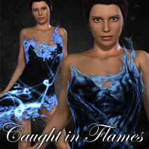 Caught in Flames for Dreamy Dress 3D Figure Essentials 3D Models jonnte