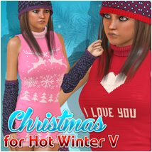 Christmas for Hot Winter 3D Figure Assets Atenais