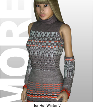 MORE Textures & Styles for Hot Winter V 3D Figure Assets 3D Models motif