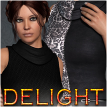 Delight for Cassie Dress 3D Figure Assets OziChick