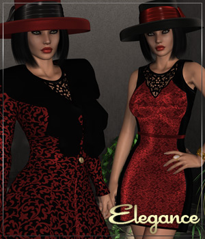 ELEGANCE for Pretty In Pink Clothing Themed Anagord