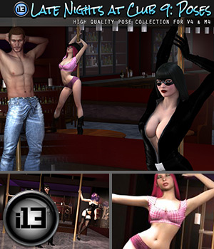 i13 Late Nights at CLUB 9 POSES Poses/Expressions Software ironman13