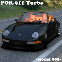 POR.911 Turbo Sports Car (model 993) Transportation Mysthero