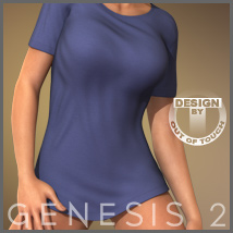 Real T-Shirt for Genesis 2 Female(s) 3D Figure Essentials 3D Models outoftouch