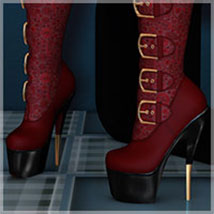 Attitude for Walk Over Boots 3D Figure Assets 3D Models Belladzines