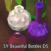 SY Beautiful Bottles DS 3D Models SickleYield