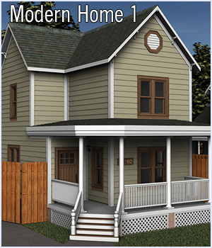 Modern Home 1 (Poser & DS) 3D Models RPublishing
