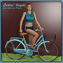 Ladies' bicycle Props/Scenes/Architecture tuketama