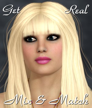 Get Real for Mix and Match Hair 3D Figure Essentials 3D Models chrislenn