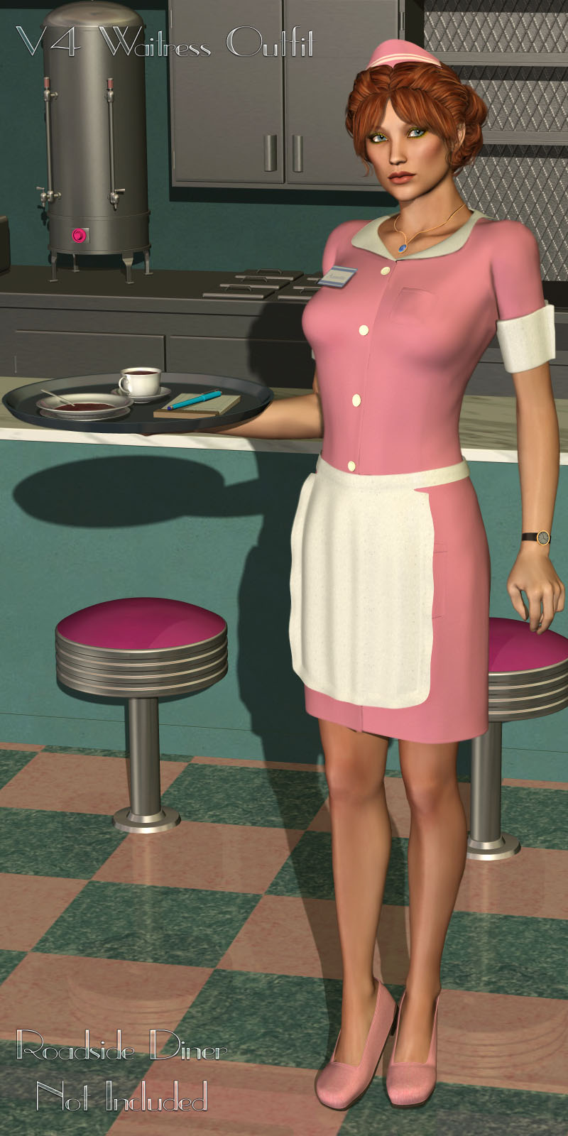 V4 Waitress Outfit