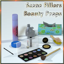 Scene Fillers - Beauty Props 3D Models 3-d-c