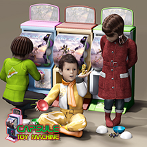 Capsule Toy Machine 3D Models JerryJang