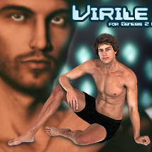 Virile For Genesis 2 Male Software Themed Poses/Expressions lunchlady