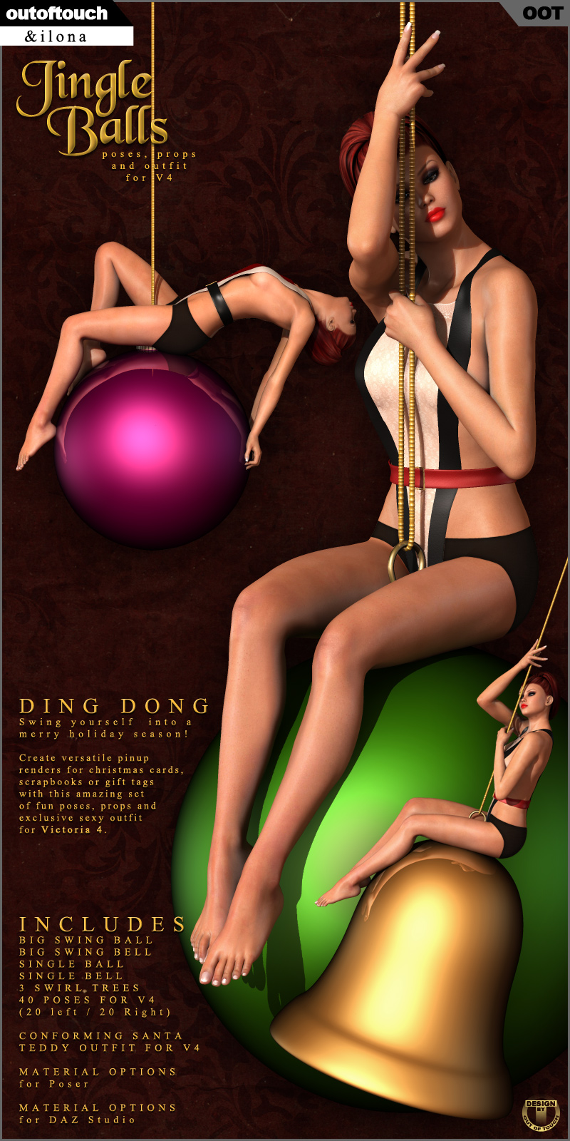 Jingle Balls: Poses, Props & Outfit for V4 by outoftouch