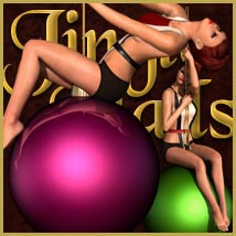 Jingle Balls: Poses, Props & Outfit for V4 3D Figure Assets 3D Models outoftouch