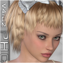 PHC : Kono G2/V4 Themed Hair P3D-Art