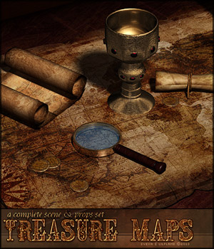 Treasure Maps Props/Scenes/Architecture Themed lilflame