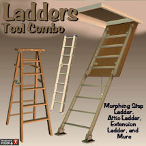 Tool Combo Ladders 3D Models pappy411