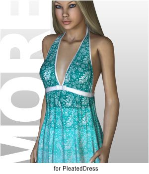 MORE Textures & Styles for PleatedDress 3D Figure Essentials 3D Models motif