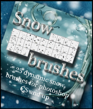 Snow Brushes Themed 2D And/Or Merchant Resources antje