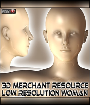 3D Merchant Resource - Low Resolution Woman 2D Graphics Merchant Resources 3Dream