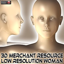 3D Merchant Resource - Low Resolution Woman 2D 3Dream