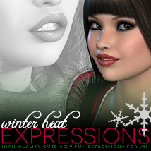i13 Winter Heat Expressions for V4 Software Poses/Expressions Themed ironman13