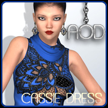 Fashion: Cassie Dress 3D Figure Essentials 3D Models ArtOfDreams
