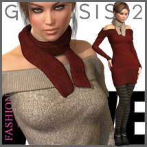 FASHIONWAVE Cold Chill for Genesis 2 Female(s) 3D Figure Essentials 3D Models outoftouch