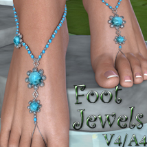 Foot Jewels V4-A4 3D Figure Assets nikisatez