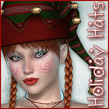 Holiday Hats 3D Figure Assets Sveva