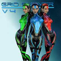 Grid Runner V4 3D Figure Assets shaft73