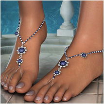 OziStyle: Foot Jewels 3D Figure Assets 3D Models OziChick