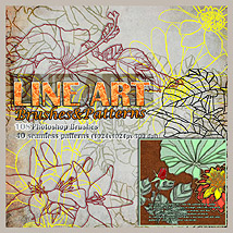 LINE ART-Brushes & Patterns 2D And/Or Merchant Resources RajRaja