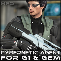 HFS More Than Human: Cybernetic Agent 3D Figure Assets 3D Models DarioFish