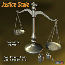 Justice Scale 3D Models pappy411