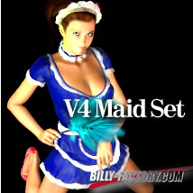 V4 Maid Set 3D Figure Assets billy-t