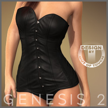 Sexy Corsage for Genesis 2 Female(s) 3D Figure Essentials 3D Models outoftouch