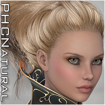 PHCNatural : SAV Khione Hair Themed P3D-Art