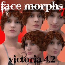 Farconville's Face Morphs 7 for Victoria 4.2 3D Figure Essentials 3D Models farconville